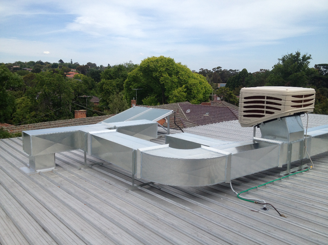 Flat Roof Installation : Portfolio j s air conditioningj conditioning